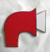 Enamelled foghorn badge