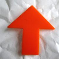 Acrylic arrow badge