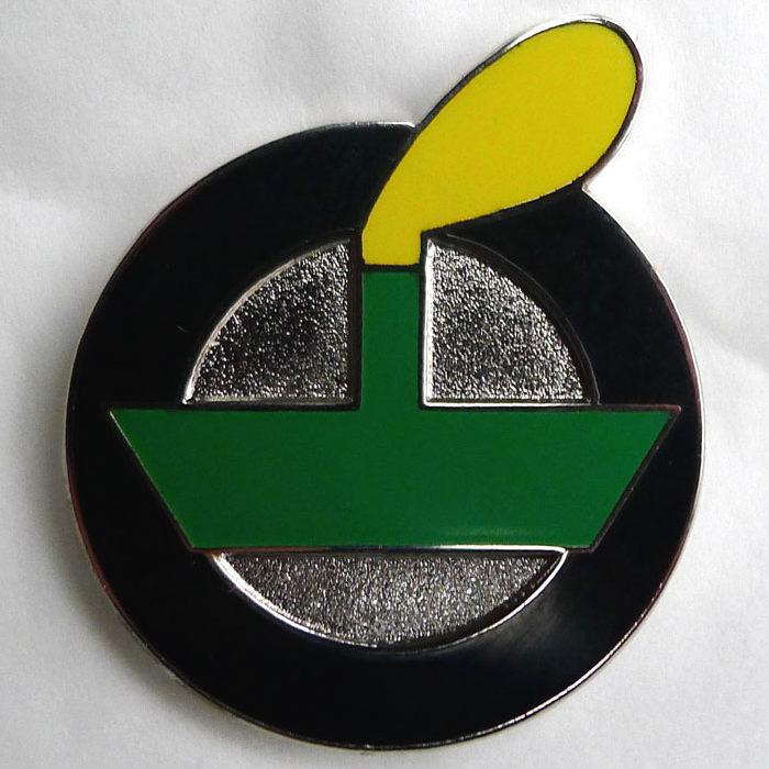 Enamel black LV badge