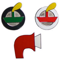 Set of 3 enamel badges