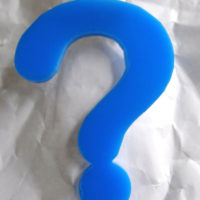 Acrylic question mark badge