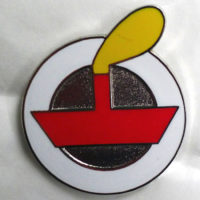 Emamelled red LV badge