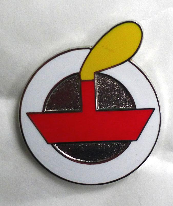 Emamelled red LV badge